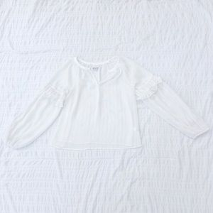 A New Day Target Sheer White Glitter Stripe Top